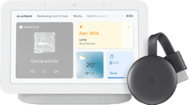 Google Nest Hub 2 Chalk + Google Chromecast 3