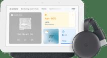 Google Nest Hub 2 Charcoal + Google Chromecast 3