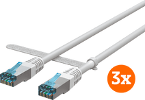 BlueBuilt Netzwerkkabel STP CAT6 3 Meter Weiß 3er-Pack