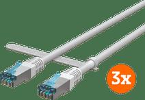 BlueBuilt Netzwerkkabel STP CAT6 1 Meter Weiß 3er-Pack