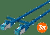 BlueBuilt Netzwerkkabel STP CAT6 0,5 Meter Blau 3er-Pack