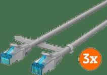 BlueBuilt Netzwerkkabel STP CAT6 0,5 Meter grau 3er-Pack
