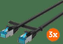 BlueBuilt Netzwerkkabel STP CAT6 0,5 Meter Schwarz 3er-Pack