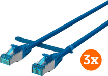 BlueBuilt Netzwerkkabel STP CAT6 10 Meter Blau 3er-Pack