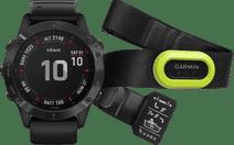 Garmin Fenix 6 Pro - Schwarz - 47 mm + Garmin HRM-Pro Herzfrequenzmesser Brustgurt Grün