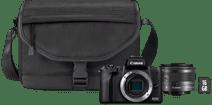 Canon EOS M50 Mark II Schwarz Starterset - EF-M 15-45 mm + Tasche + Speicherkarte