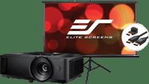 Optoma HD146X + Projektionsleinwand + HDMI-Kabel