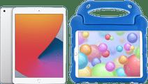 Apple iPad (2020) 10,2 Zoll Silber 128 GB WLAN Silber + Kinderhülle Blau