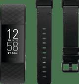 Fitbit Charge 4 Schwarz + Fitbit Charge 4 Lederarmband Schwarz S