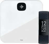 Fitbit Charge 4 Stahlblau + Fitbit Aria Air Weiß