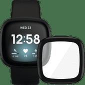 Fitbit Versa 3 Schwarz + PanzerGlass Fitbit Sense, Versa 3 Displayschutzfolie Glas Schwarz