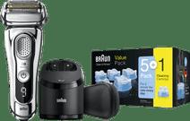 Braun Series 9 9395CC + Braun Reinigungsflüssigkeit Clean & Renew-Patronen (5+1 Stück)