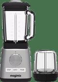 Magimix-Power-Standmixer Chrom matt + Mini-Schüssel
