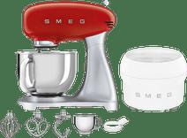 SMEG SMF02RDEU Rot + Eisbereiter