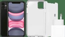 Apple iPhone 11 128 GB Schwarz + Zubehörpaket
