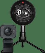 Logitech StreamCam + Mikrofon Blue Snowball Ice