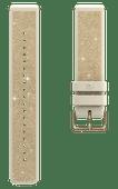 Polar Silikonarmband Gold mit Kristallen S 20 mm