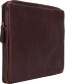BlueBuilt 14-Zoll-Laptophülle Breite 32 cm - 33 cm Leder Braun