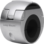Universal-Telefonhalterung Loop Mount Silber mit Klemme für Fahrradlenker