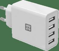 XtremeMac Ladegerät mit 4 USB-A-Anschlüssen 12 W Weiß