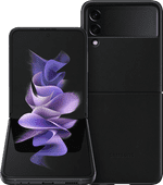 Samsung Galaxy Z Flip3 256GB Schwarz 5G + Samsung Backcover Leder Schwarz