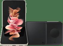 Samsung Galaxy Z Flip3 256GB Creme 5G + Samsung kabelloses Ladegerät DUO Pad 9W Schwarz