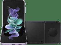 Samsung Galaxy Z Flip3 256GB Lila 5G + Samsung kabelloses Ladegerät DUO Pad 9W Schwarz