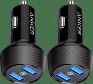 Anker Schnelllade-Autoladegerät ohne Kabel mit 2 USB-Anschlüssen 18W Duo-Pack