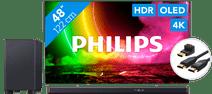 Philips 48OLED806 - Ambilight (2021) + Soundbar + HDMI-Kabel