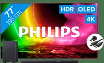 Philips 77OLED806 - Ambilight (2021) + Soundbar + HDMI-Kabel