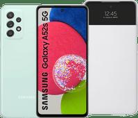 Samsung Galaxy A52s 128GB Grün 5G + Samsung S View Book Case Weiß