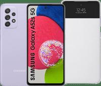 Samsung Galaxy A52s 128GB Violett 5G + Samsung S View Book Case Weiß