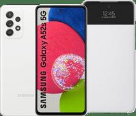 Samsung Galaxy A52s 128GB Weiß 5G + Samsung S View Book Case Weiß