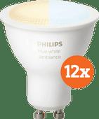 Philips Hue White Ambiance GU10 Bluetooth 12er-Pack