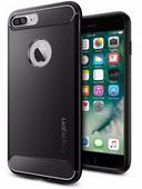 Spigen Rugged Rüstung Apple iPhone SE Plus / 8 Plus / 7 Plus Backcover Schwarz