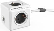 PowerCube USB 4-fach-Steckdosenleiste 1,5m